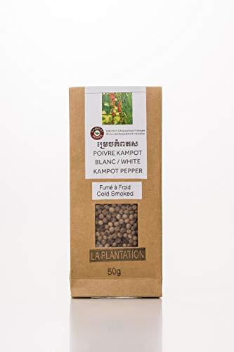"""La Plantation """"香りを楽しむ"""" 燻製白胡椒 (粒) カンポットペッパー カンボジア胡椒 ホワイトペッパー Smoked White Pepper… (50g x 1個)"""