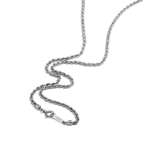[ルビイ] プラチナ Pt850 パイプロープ チェーン ネックレス 幅2.0mm 長さ50cm
