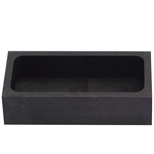 musykrafties Rechteck Schmuck Casting Graphit Barren-Form Schmelztiegel für Schmelzen Raffination Schrott Metall - #1444 100x50x25mm
