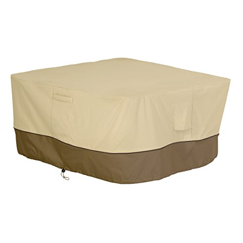 Classic Accessories Veranda Water-Resistant 42 Inch Square Fire Pit Table Cover