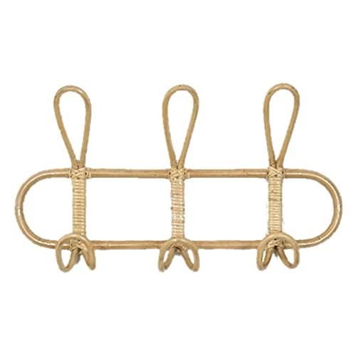 Aiong Appendiabiti, Gancio da Parete in Rattan 40X20 cm, Non Facile da deformare, utilizzato per Cappelli, Abbigliamento e Decorazioni per la casa