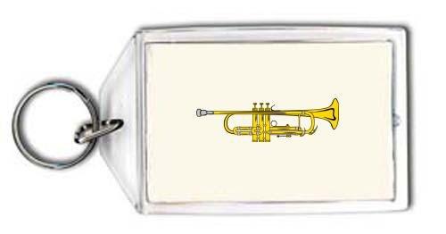 Schlüsselhalter mit der Grafik: Trompete B-Dur (Farbe)