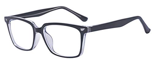 Outray Blue Light Blocking Glasses,Cut UV400 Transparent Lens,Computer Reading Glasses,Anti Eyestrain/Anti Scratch/Anti Smudgy,Sleep Better for Women/Men Black