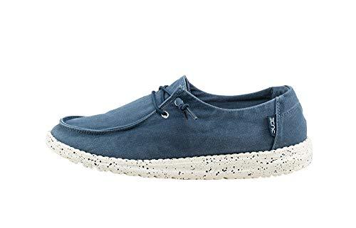 Dude Shoes Wendy De Las Mujeres Lavado ACERO Azul UK4/EU37