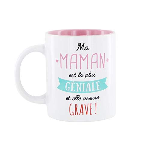 DITES LE AVEC DES MOTS CMMO0555 Mug Maman, Keramik, Rosa, One Size