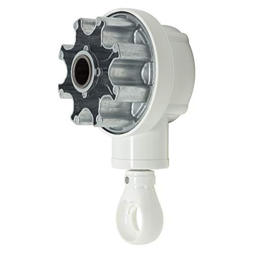 DIWARO.® | Kegelradgetriebe für Markisen | 3:1 | Öse weiß | 78mm Nutrohr | Markisengetriebe
