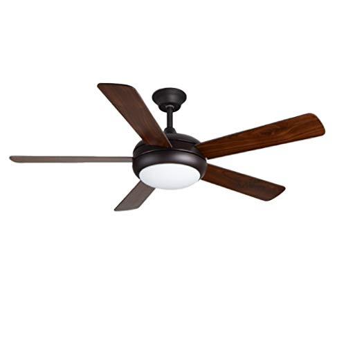 JSY Zwarte houten blad van de ventilator aan het plafond licht eenvoudige wijze moderne elektrische ventilator lichte woonkamer restaurant ventilator licht verlichting ventilator aan het plafond kroon