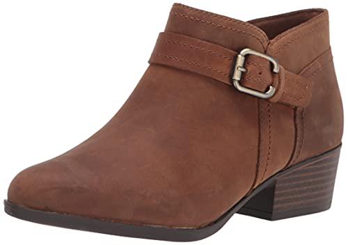 Clarks Women's Adreena Mid Ankle Boot, Dark Tan Leather, 7