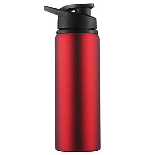 ZYLLL Edelstahl Reise Wasserflaschen Sport Wasser Tasse Gerade Getränk Fahrrad Wasserkocher Außenwasserflasche 700 ml Rot