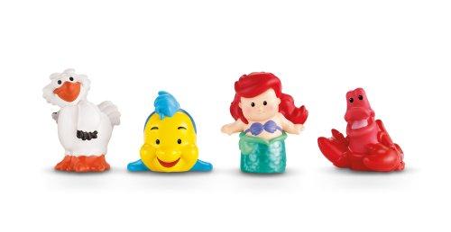 Fisher Price Little People Schloss-Zubehör - 4 Figuren, Arielle und 3 Freunde