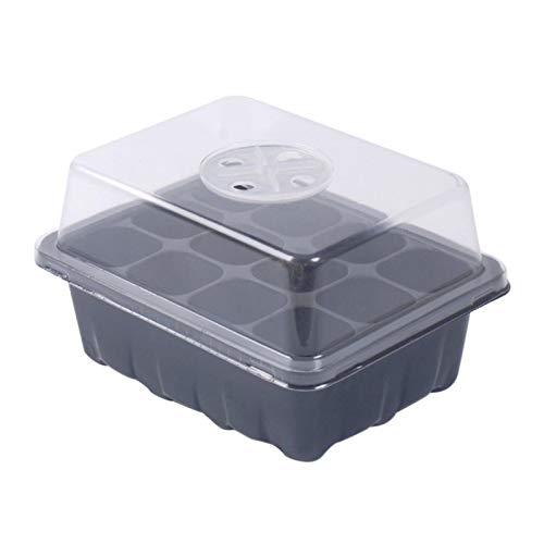 YJYQ 5PCS Juego De Bandejas para Incubadora De Semillas Kit De Inicio De Planta Caja De Plántulas De 12 Orificios con Tapa