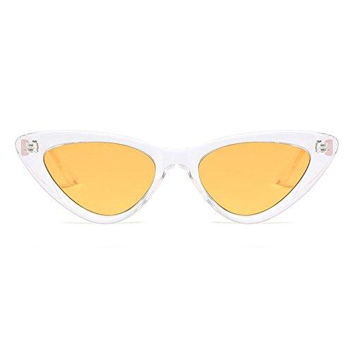 Xinvivion Clásico Ojo de gato Cateye Gafas de sol - Retro Vendimia Moda Gafas Mujer Primavera Bisagra Pequeña Cuadro Lentes UV400 Lente
