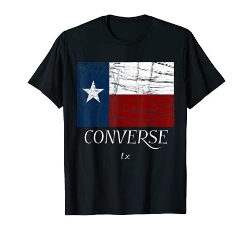 Converse TX| Vintage Texas Flag Apparel - Graphic T-Shirt