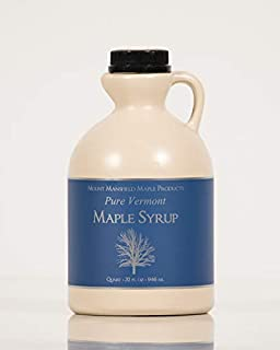 Mansfield Maple Pure Vermont Maple Syrup in Plastic Jug Golden Delicate (Vermont Fancy), Quart