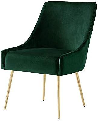 Amazon.com: Posh Living Perogo Velvet Dining Chair Set of 2 ...