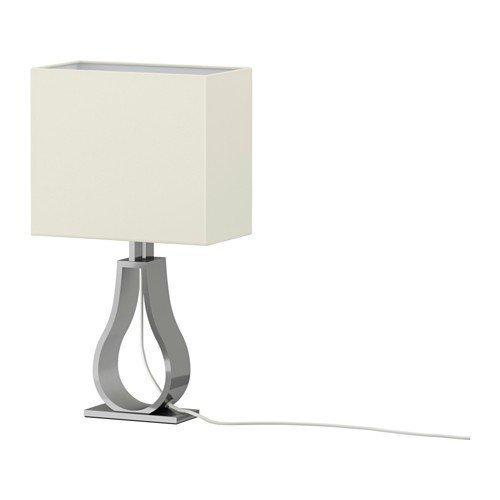 2 lámparas de mesa Xikea KLABB de color blanco roto