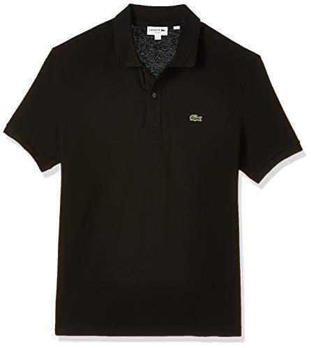 Lacoste Men's Classic Pique Slim Fit Short Sleeve Polo Shirt, Black, XL