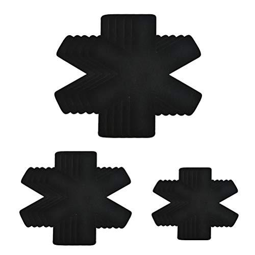 DODUOS 15 Stück Pfannenschoner Topfschutz Topf Untersetzer aus Filz Pfannenschutz Pfannenstapelschutz vor Kratzer und Beulen (26cm, 36cm, 38cm)