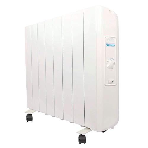 farho Radiador Electrico Eco R Ultra 1330W (8) · Emisor Termico con Termostato Analógico · Ruedas Incluidas · Radiadores Electricos Bajo Consumo para Estancias de hasta 18 m² · 20 AÑOS DE GARANTÍA