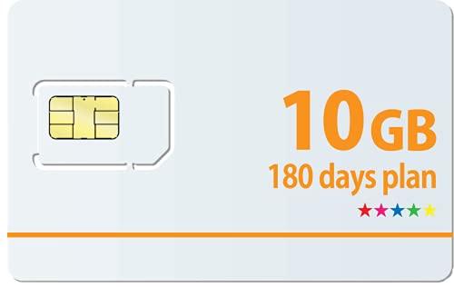 Docomo 日本国内専用最大10GB利用可能180日プランSIMカード1日の制限無し!※面倒な契約不要 docomo MVNO回線 データ専用 使い切りプリペイドSIMカード SIMリリースピン付