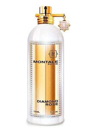 100% auténtica Montale Diamond Rose Eau de Perfume 100 ml fabricado en Francia + 2 muestras de Montale + 30 ml Cuidado de la piel