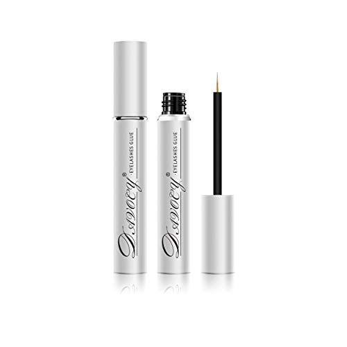 Davocy Eyelash Glue, Strong Hold, Clear, Latex-Free, Waterproof Lash Adhesive. Professional Hypoallergenic Adhesive for Sensitive Eye. Suitable for Strip Eyelash Extension, False Lash, Mink Lash