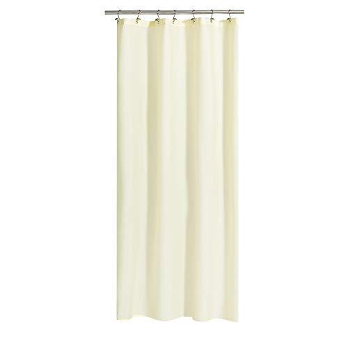 Duschvorhang aus Stoff, 91,4 x 182,9 cm, Badesammelgröße mit 2 Magneten, Hotelqualität, waschbar, wasserabweisend, sandfarben