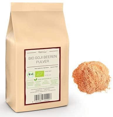 250g di polvere di Goji BIO senza additivi - polvere di goji pura di goji BIO liofilizzata in polvere di frutta BIO - polvere di frullato di bacche di goji BIO in confezione biodegradabile