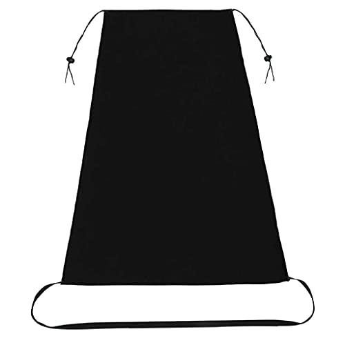 S-TROUBLE Cochecito de bebé Universal Sombrilla Impermeable Cubierta de protección UV Toldo portátil Ajustable con Dosel Plegable para capazo Negro