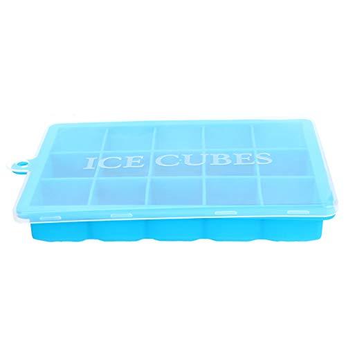 Bandeja Cubitos de Hielo Molde Silicona Cuadrado Easy Release Bar Accesorios de Cocina Blue