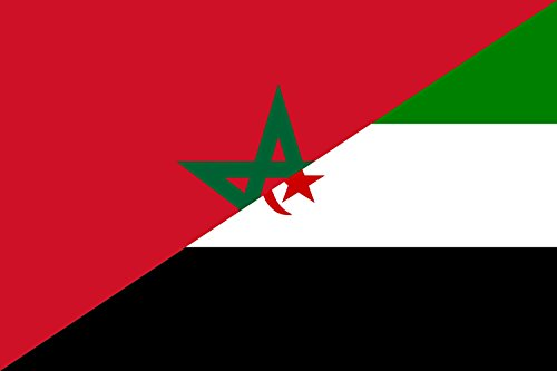 magFlags Bandera Large Morocco and Western Sahara | Western Sahara - Flag of Morocco/SADR | Bandera Paisaje | 1.35m² | 90x150cm