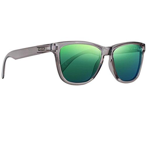 NECTAR Graue polarisierte Sonnenbrille für Damen und Herren | Flex-Rahmen | 100% UV-Schutz – The Crux (Topas)