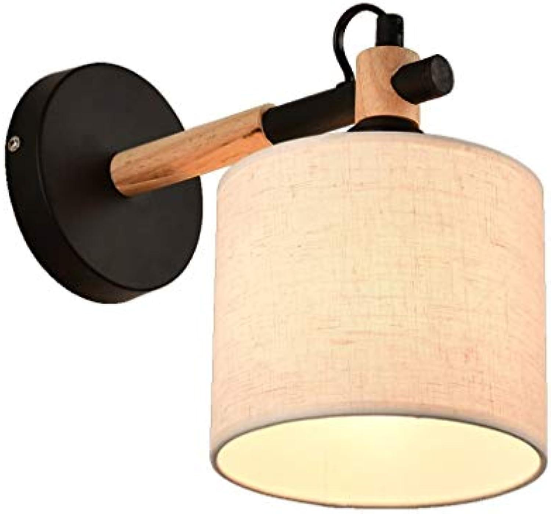Zhang Yan ZYY modernes Wohnzimmer Schlafzimmer Nachttischlampe Ganglichter Europischen Stil Kreative Holzkunst Wandleuchten E27 Nachttischlampe (Farbe  SCHWARZ)