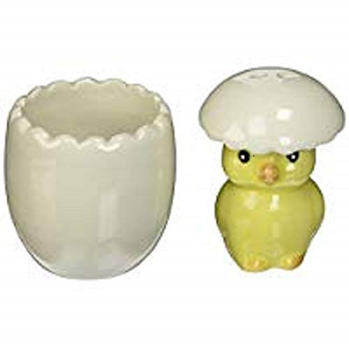 "Kate Aspen""About To Hatch"" Ceramic Baby Chick Salt and Pepper Shakers"