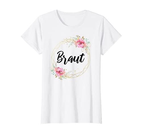 Damen Team Braut Tshirt Bride to be Deko JGA Junggesellenabschied T-Shirt