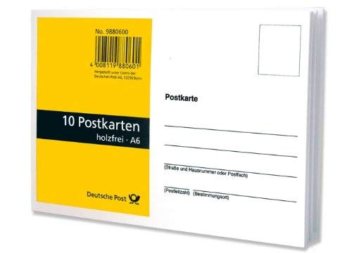 50 Postkarten, blanko, weiß aus holzfreiem Papier im Format A6