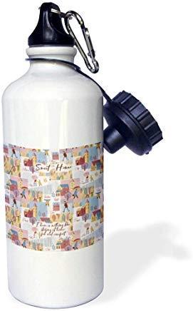 Queen54ferna Autumn Vibes There is Nothing Like Staying at Home Jane Austen - Botella de agua de aluminio para deportes de otoño, color blanco, para senderismo, gimnasio, escuela, camping, para hombres, mujeres, niños