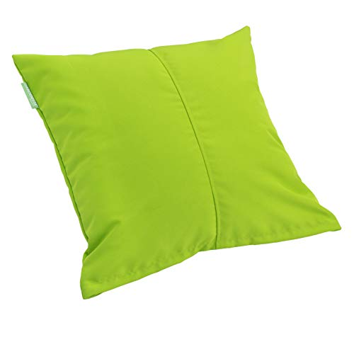 Gardenista Premium Large Garden Scatter Cushion | Water Resistant | Foam Crumb Filled Outdoor Seating Furniture Pillow | Great for Patio Rattan Chairs (Lime)