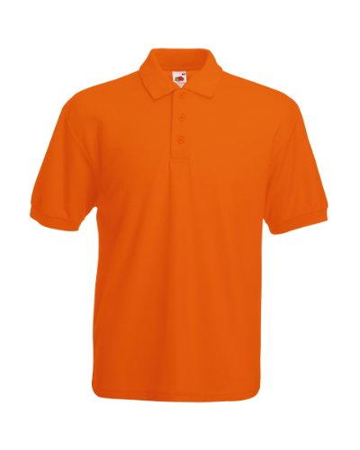 Fruit of the Loom Herren Poloshirt SS033M, Orange-Orange, S