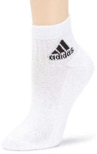 adidas Adi - Calcetines de Tobillo (3 Pares), Color Blanco, Blanco y Negro, Talla 51, Unisex Adulto, Color Blanco/Blanco/Negro, tamaño Talla 51-54