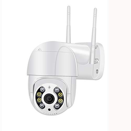 XYY HD Cámara De Seguridad Inalámbrica para Exteriores Pan Tilt Zoom Sistema De Cámara De Seguridad Inalámbrica Cámara PTZ Audio Bidireccional Domo Impermeable Detección De Movimiento Visión,Au