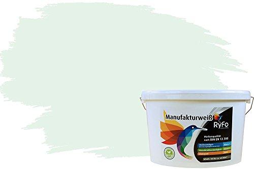 RyFo Colors Kleurrijke muurverf Manufakturwit - meer groene tinten en maten beschikbaar, dekking klasse 1, natte schuren klasse 1 10l groen (groene thee)