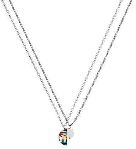 Christian Lacroix XF41002L - Collar de latón para Mujer, Color Plateado y Brillante