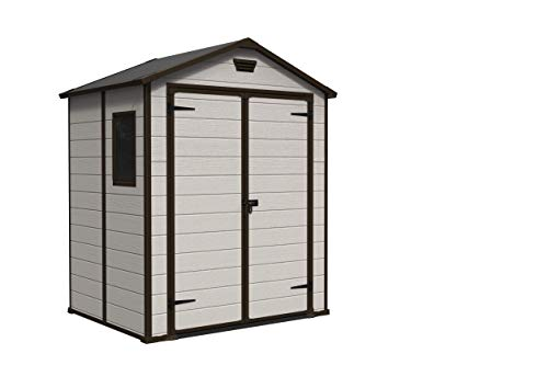 Keter Manor Outdoor Plastic Garden Storage Shed,...