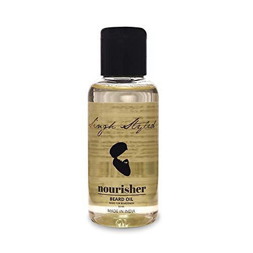Singh Styled Beard Oil Nourisher - 50ml - Beard Oil for Beard and Mustache - Helps in Beard Growth and Reduces Beard Breakage - Made In India
