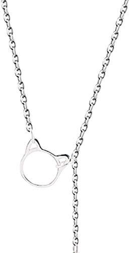 Halskette Katze Glocke Halskette Weiblich Silber Klingeln Schlüsselbein Kette Einfach Silber Silber Japanische Und Koreanische Studenten Kreative Trendy Lange Anhänger Für Frauen Männer Geschenke