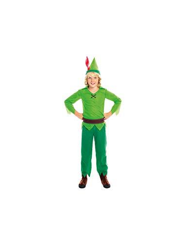DISBACANAL Disfraz Peter Pan Verde Infantil - -, 3-4 aos