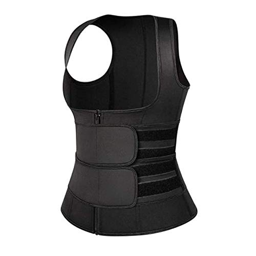 Nihexo HeatUp 2 in 1 Bust Lifter & Waist Shaper, Women\'s Corset Zipper Vest Body Shaper Vest, Adjustable Waist Trainer Corset (L)