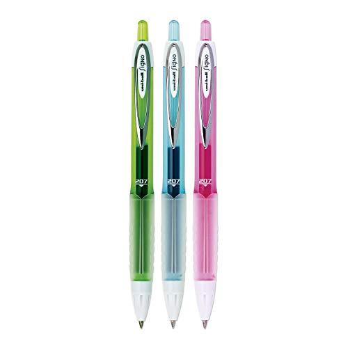 Uni-Ball 207 Colors Retractable Gel Pens, Medium Point (0.7mm), Assorted Colors, Box of 12 (2067507)