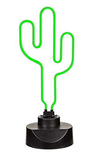 Neon Leuchte Kaktus, Höhe ca. 40 cm, 6W, mit 12V Adapter, im Geschenkkarton